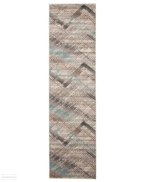 Aspect Riverside Jagged Blue Rug - 300X80cm