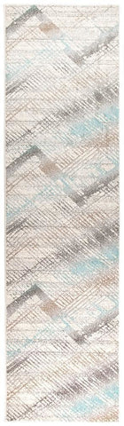 Aspect Riverside Jagged Blue Runner Rug - 300X80cm