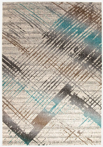 Aspect Riverside Jagged Blue Rug - 230X160cm