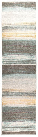 Aspect Riverside Gravel Multi Runner Rug - 300X80cm