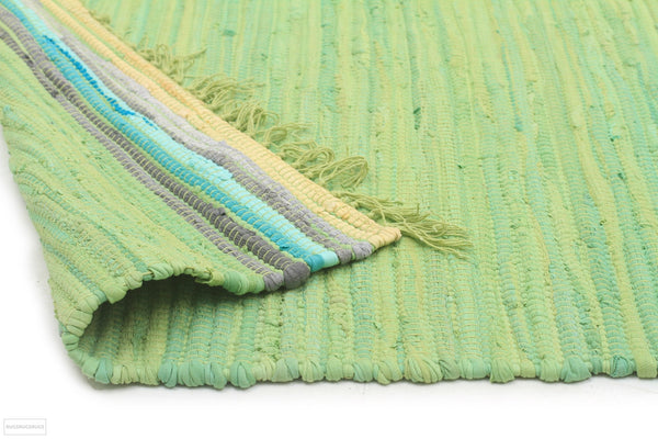 Atrium Boho Whimsical Rug Green