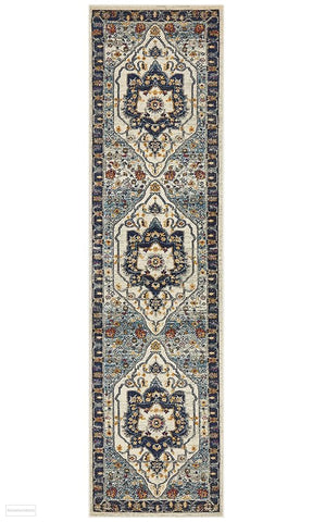 Babylon 201 Blue Runner Rug - MODERN