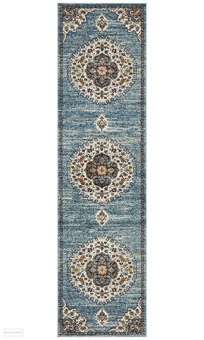 Babylon 202 Blue Runner Rug - MODERN