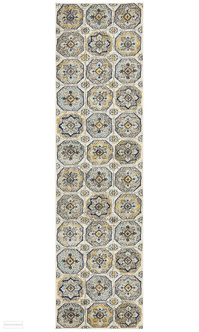 Babylon 204 Blue Runner Rug - MODERN