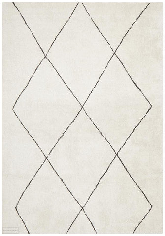 Broadway Jasmine Diamond Ivory Rug - MODERN