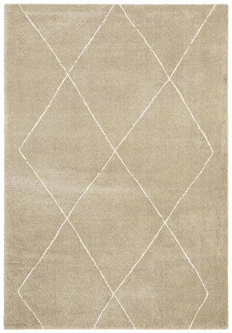 Broadway Jasmine Diamond Natural Rug - MODERN