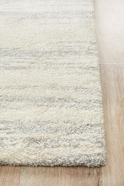 Broadway Evelyn Contemporary Silver Rug - MODERN