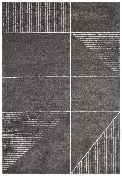 Broadway Florence Modern Charcoal Rug - MODERN