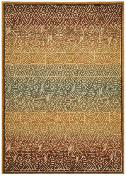 Byblos Tribal Design Gold Rug - 230x160cm