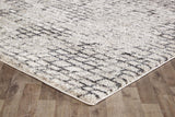 Capri Lily Modern Brick Natural and Silver Charcoal Rug