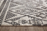 Capri Lara Tribal Natural and Grey Rug