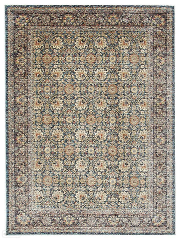 Cascade Moonlight Luminous Blue Rug - 170x120cm