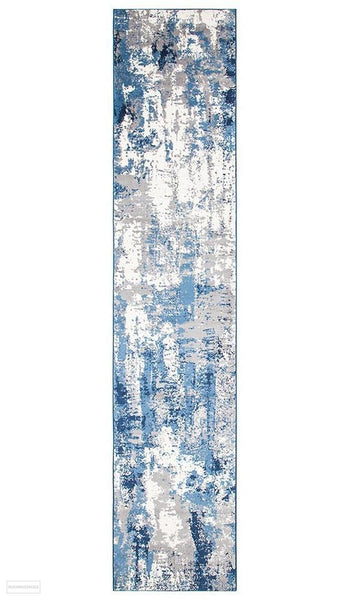 Chelsea Connie Modern Runner Rug Blue Cream - 400x80cm