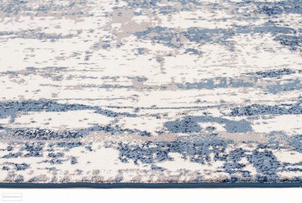 Chelsea Connie Modern Runner Rug Blue Cream