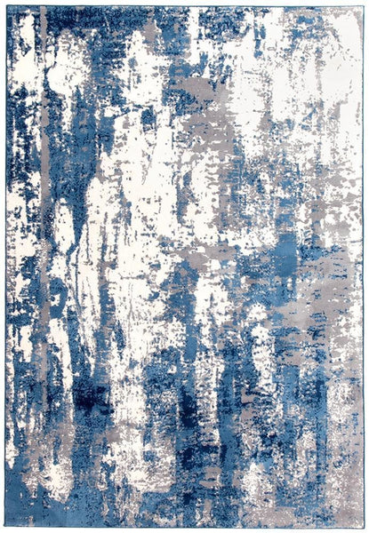 Chelsea Connie Modern Rug Blue Cream - 220x150cm