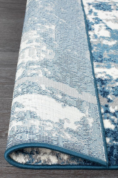 Chelsea Connie Modern Rug Blue Cream