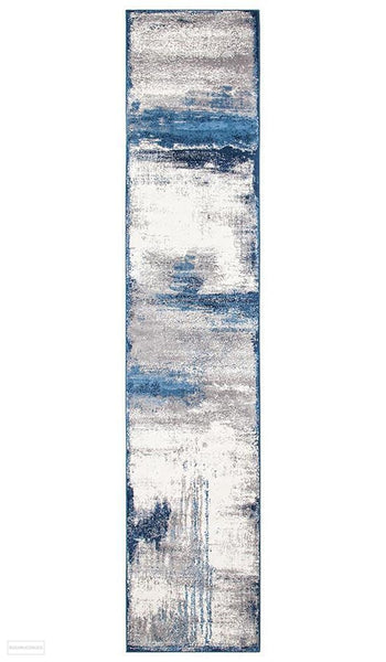 Chelsea Anita Abstract Rug Blue Cream - 400x80cm