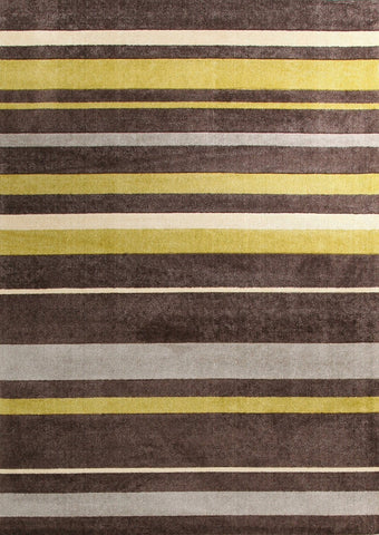 City Stylish Stripe Rug Brown Green