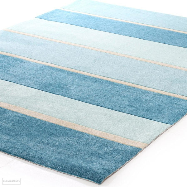 City Modern Blue Bands Rug