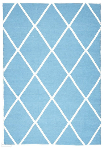 Coastal Indoor Outdoor 3 Turq Rug