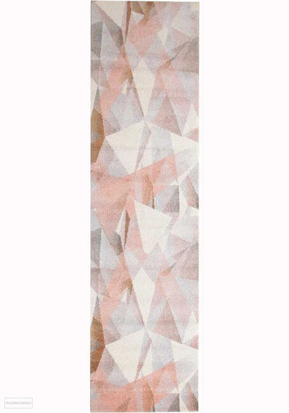 Dimensions Divinity Shatter Blush Modern Rug - 300X80cm