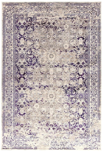 Drift Isfahan Transitional Modern Rug Aubergine White Grey - 230X160cm