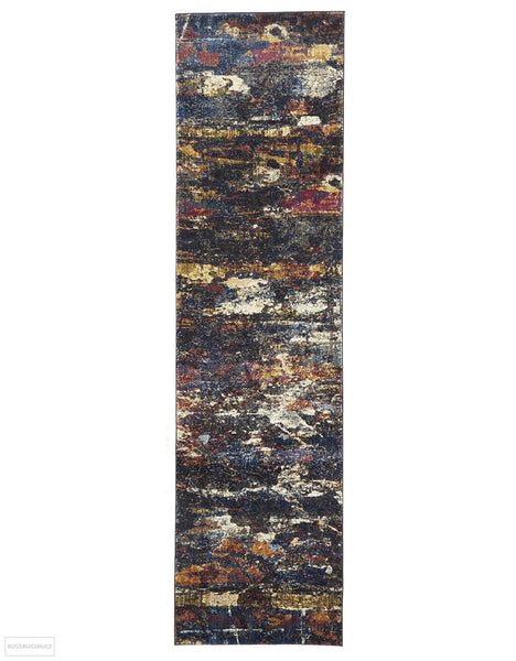 Dreamscape Splash Modern Midnight Rug - 300x80cm
