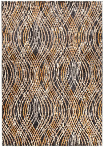 Dreamscape Flurry Modern Charcoal Rug - 230x160cm