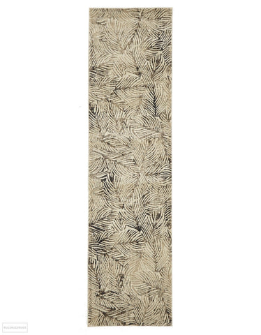 Dreamscape Artistic Nature Modern Charcoal Runner Rug - 300x80cm