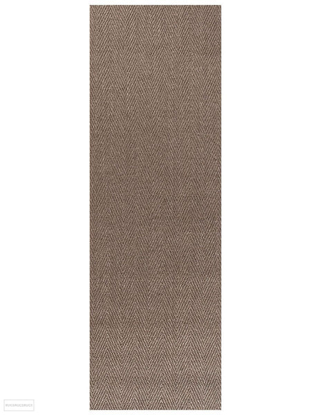 Eco Sisal Herringbone Brown Rug - 300x80cm