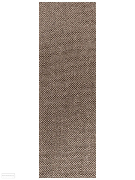 Eco Sisal Tiger Eye Grey Rug - 300x80cm