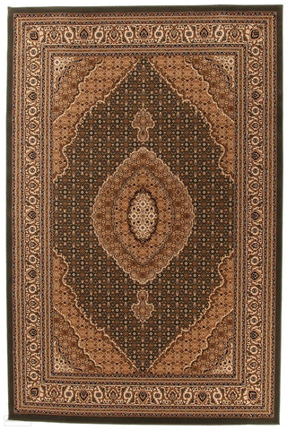 Empire Collection Stunning Formal Oriental Design Green Rug - 170x120cm