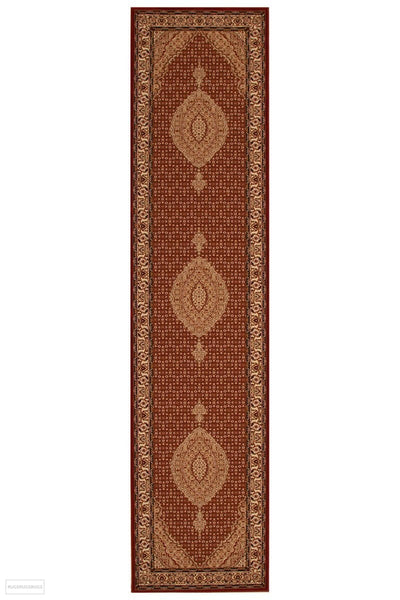 Empire Collection Stunning Formal Oriental Design Red Rug - 300x80cm