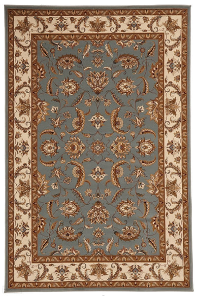 Empire Collection Stunning Formal Floral Design Blue Rug - 170x120cm