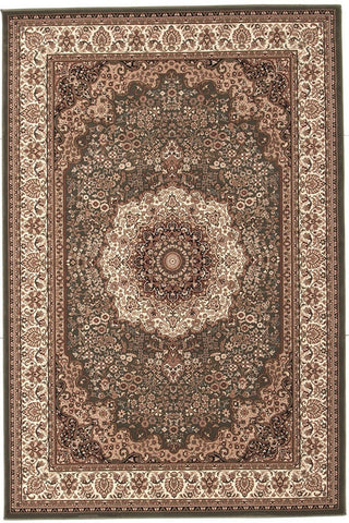 Empire Collection Stunning Formal Medallion Design Green Rug - 170x120cm