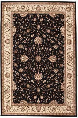 Empire Collection Stunning Formal Classic Design Black Rug - 170x120cm