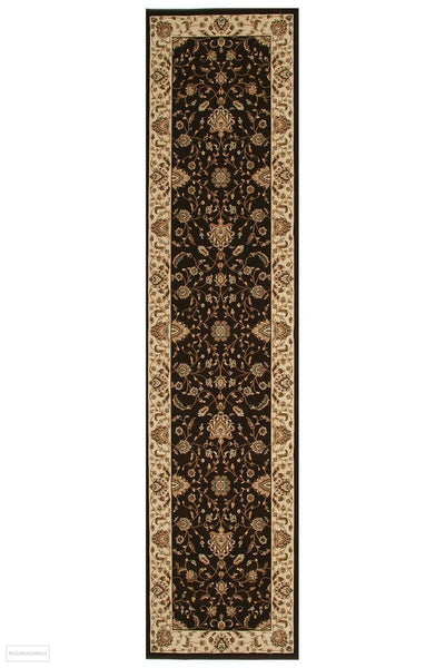 Empire Stunning Formal Classic Design Runner Rug Brown