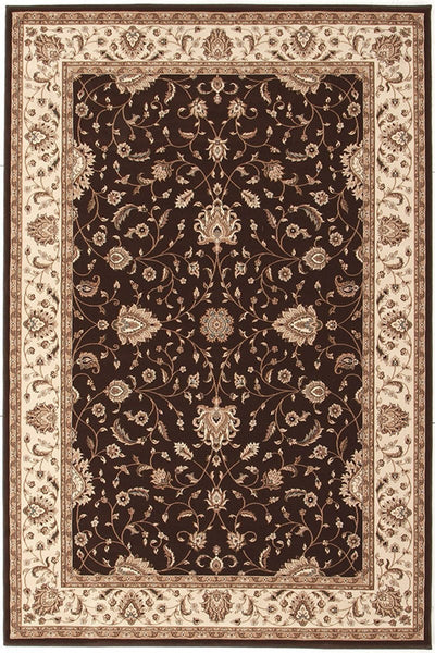 Empire Collection Stunning Formal Classic Design Brown Rug - 170x120cm