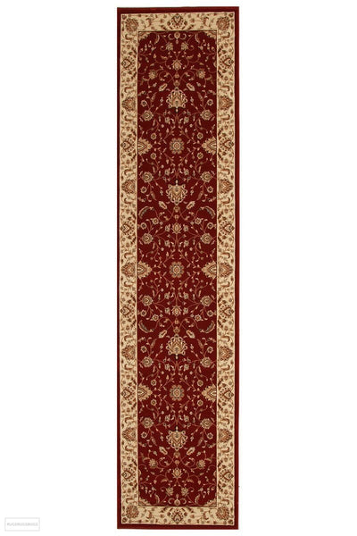 Empire Collection Stunning Formal Classic Design Red Rug - 300x80cm