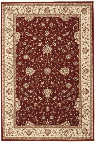 Empire Collection Stunning Formal Classic Design Red Rug - 170x120cm