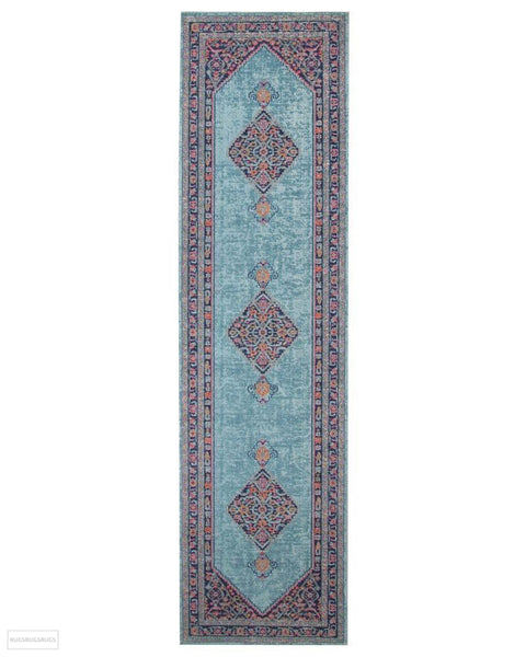 Eternal Whisper Diamond Blue Rug - 300X80cm