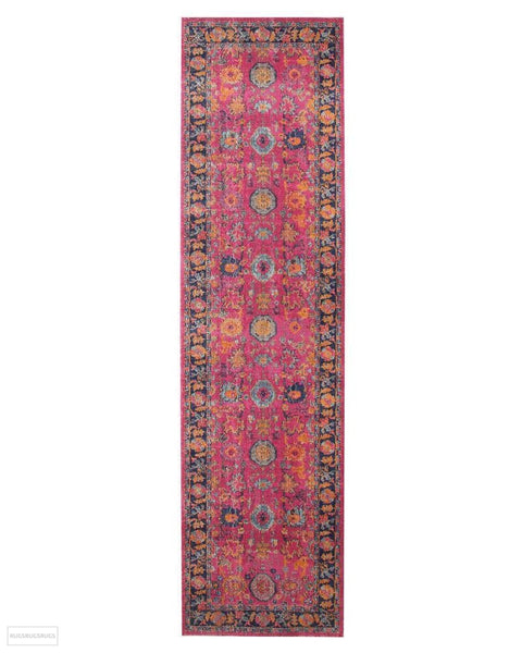 Eternal Whisper Corners Pink Rug - 300X80cm