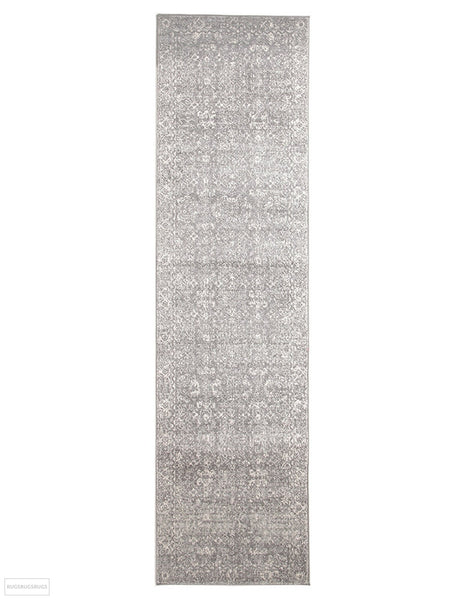 Evoke Pidgeon Grey Transitional Rug - 300x80cm