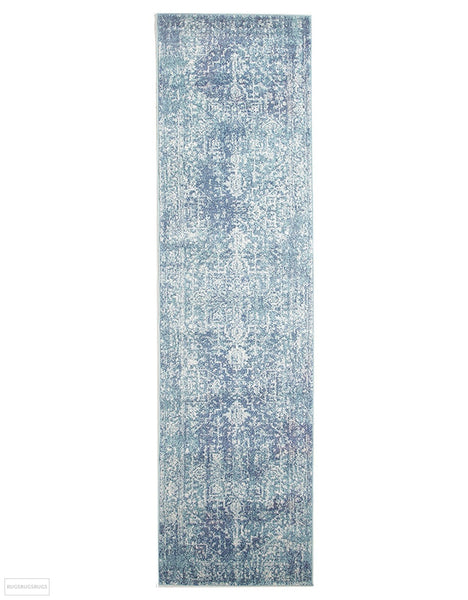 Evoke Muse Blue Transitional Rug - 300x80cm