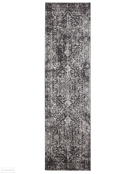 Evoke Scape Charcoal Transitional Rug - 300x80cm