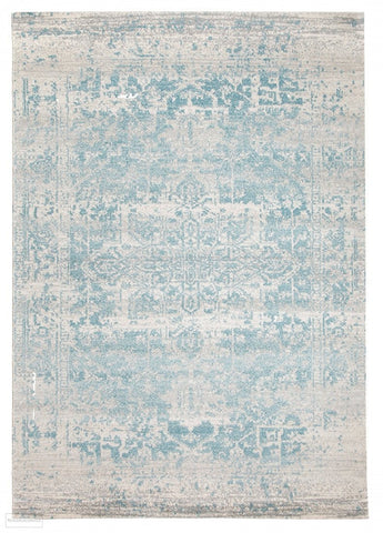 Evoke Glacier White Blue Transitional Rug - 230x160cm
