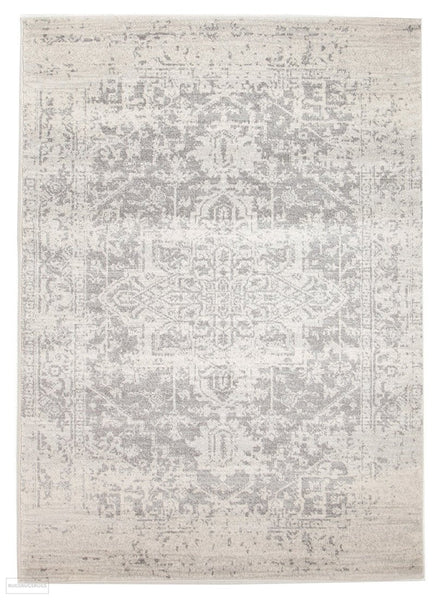 Evoke Dream White Silver Transitional Rug - 230x160cm
