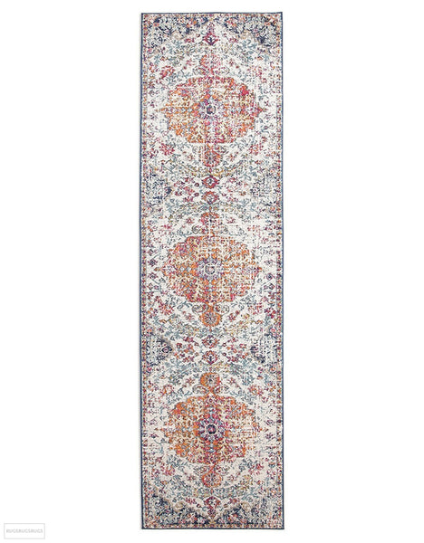 Evoke Carnival White Transitional Rug - 300x80cm