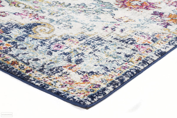 Evoke Carnival White Transitional Runner Rug