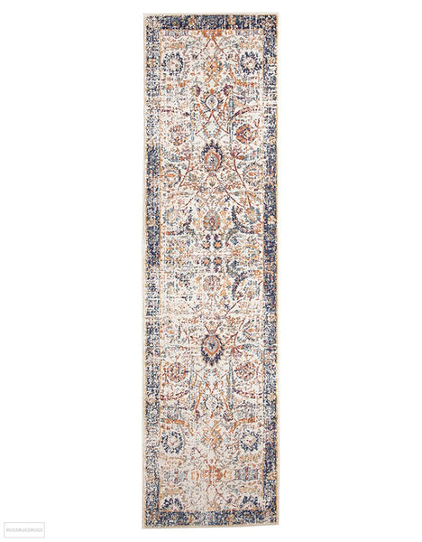 Evoke Peacock Ivory Transitional Rug - 300x80cm